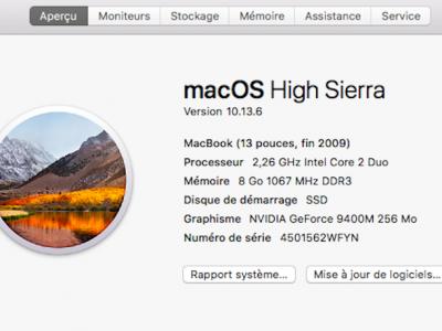 MacBook Blanc fin 2009