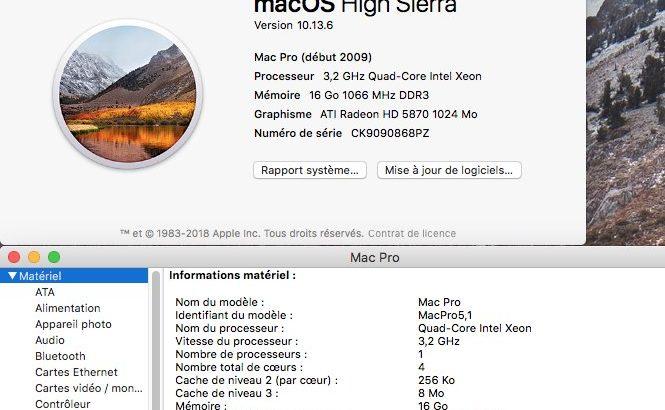 MacPro 2009 quad core 3.2ghz