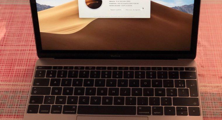 MacBook retina 12″ début 2015 1,2GHz