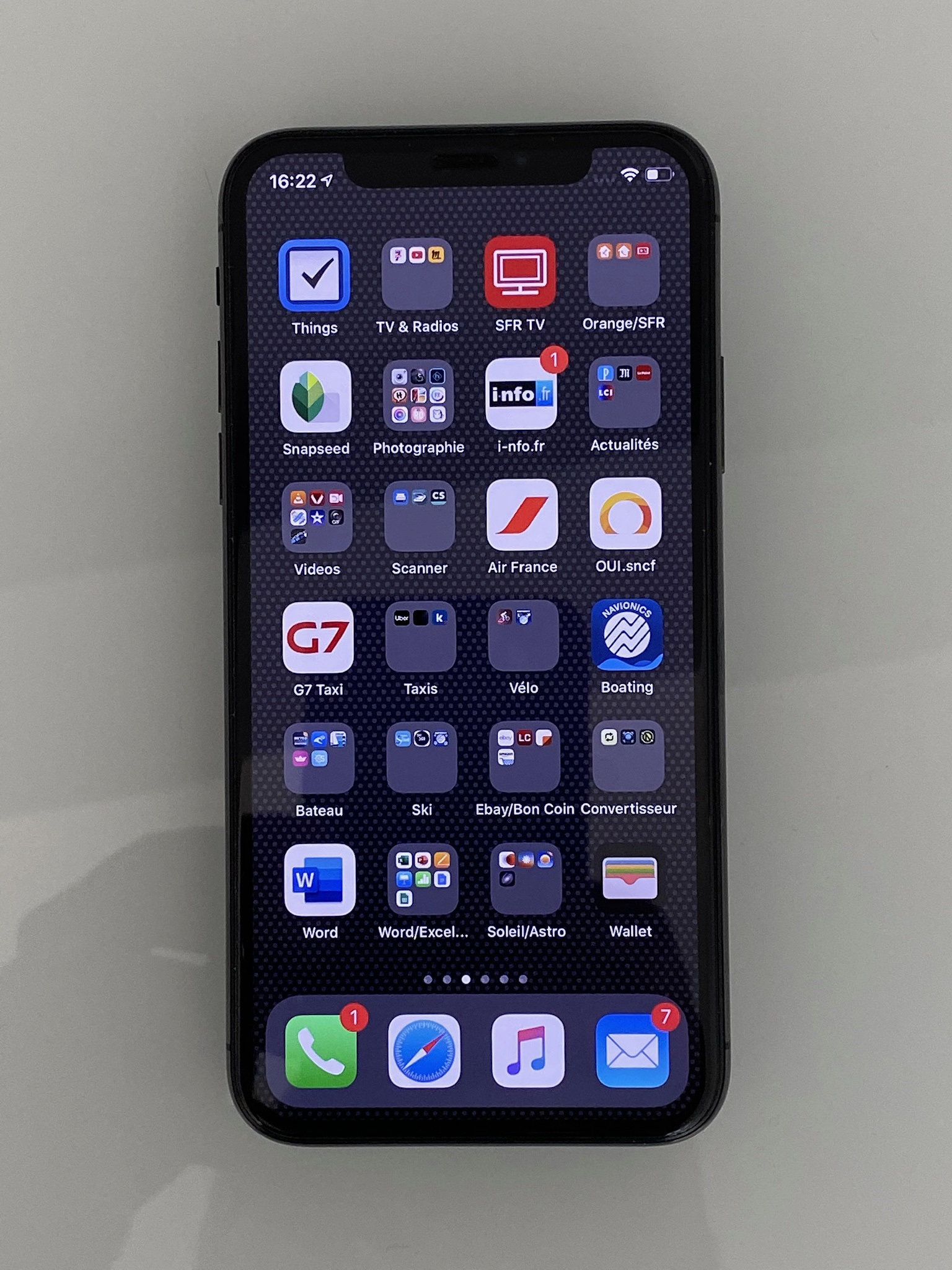 IPhone X 256Go gris sideral