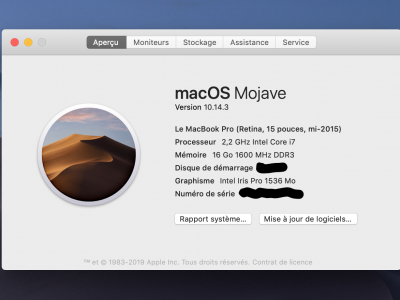 MacBook Pro 15″ mi-2015