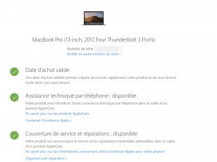MacBook 13′ 2017 3.5 core i7 16GO RAM 512 SSD