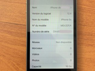 Apple iPhone 5S 16 Go Noir France Désimlocké