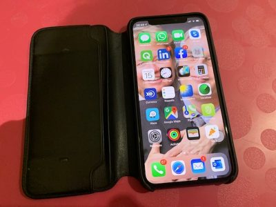 iPhone XS Max 256Go Gris Sidéral + housse cuir