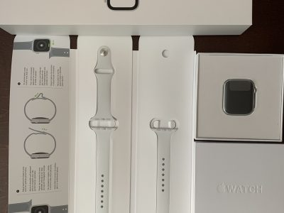 Apple Watch 4 alu argent cellulaire