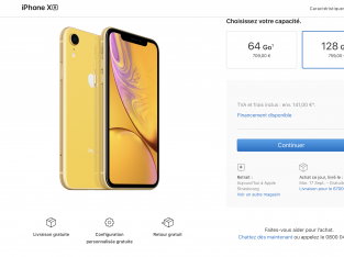 iPhone XR Jaune sous garantie