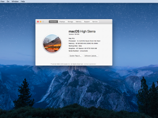 Mac pro 3.1 High Sierra 2 SSD 500Go 1HD 1To 32GB