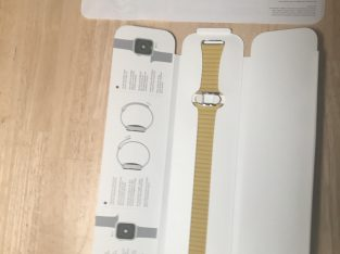Bracelet Apple Watch 44mm cuir jaune citron