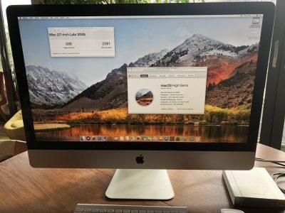 iMac 27′ corei7 SSD interne 512Go ET boitier fw800