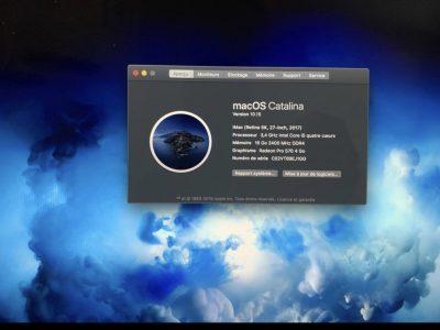 iMac 27 pouces écran rétina 5k 2017