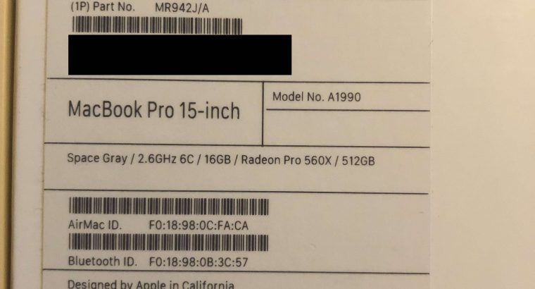 MacBook Pro Touch Bar 15