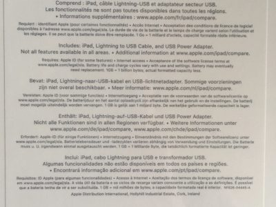iPad (6th Génération) Wifi – 128GB