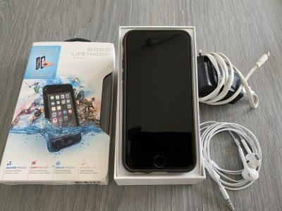iPhone 6 128 Gb gris + coque étanche