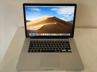 MacBook Pro Retina 15 Core i7 2,5Ghz SSD512Go 16Go
