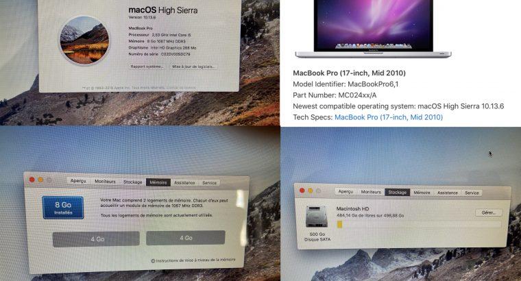MacBook Pro 17″ Intel i5