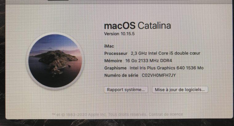 iMac 21,5 2017, 512go SSD, 16go RAM