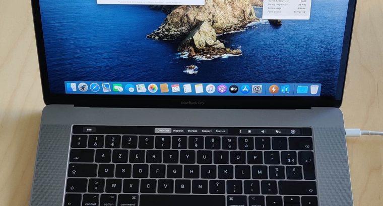 MacBook Pro 15″ i7-2,9Ghz/SSD512Go/RAM16Go/TB-2021