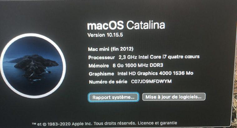 A vendre Mac Mini fin 2012