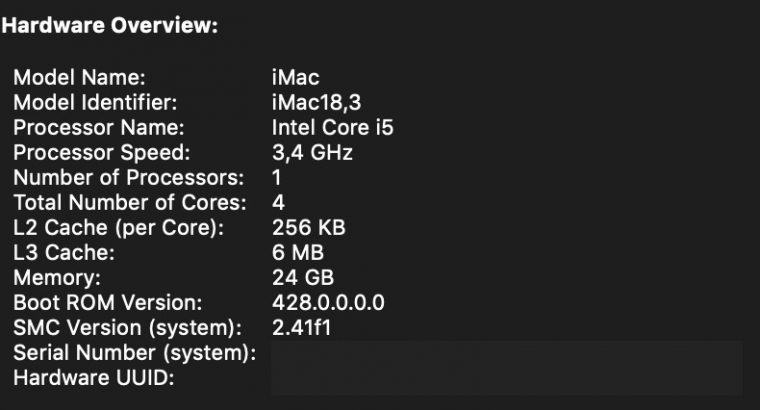 iMac 27 2017 i5 256Go