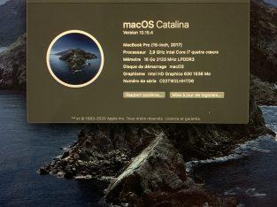 MacBook Pro 15″ mi-2017