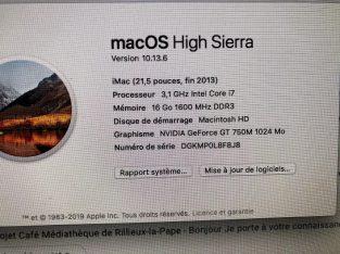 Apple iMac 21.5 fin 2013