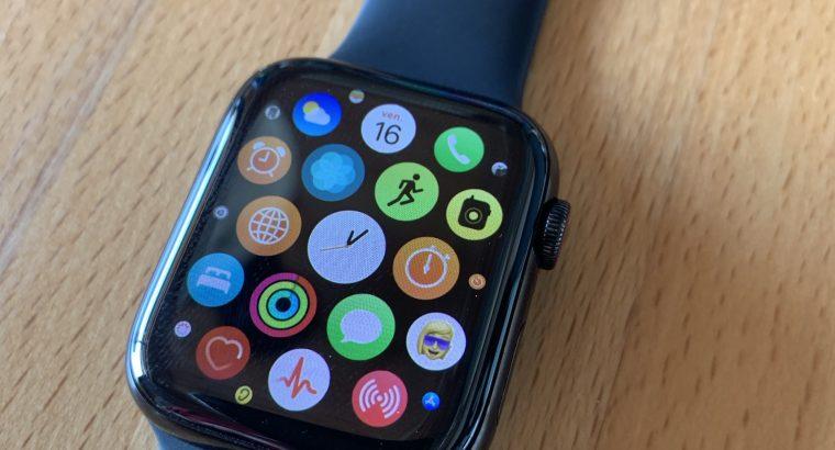 Apple Watch Séries 4 GPS + Cellular – Acier – 44mm