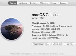 IMAC 27» fin 2013 SSD