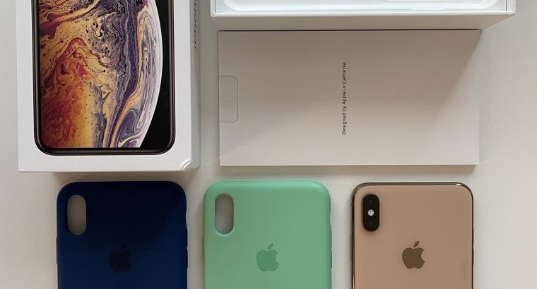 IPhone XS Max 256Go Or rose + 2 coques Apple