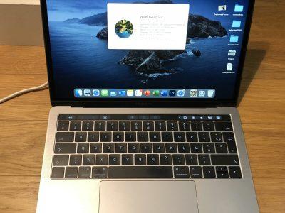 MacBook Pro 13» Touch Bar – SSD 256 – RAM 8 Go