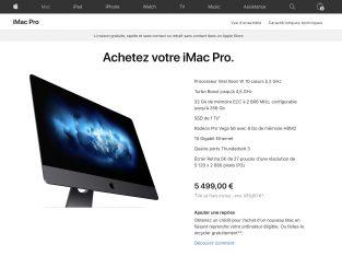 iMac Pro acheté en Février 2020
