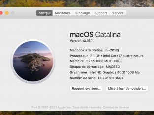 MacBook Pro 15 » i7 2.3 Ghz 8 GB 256 GB SSD