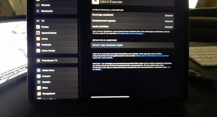 iPad Pro 2020 12,9 pouces Wifi 128Go AppleCare+