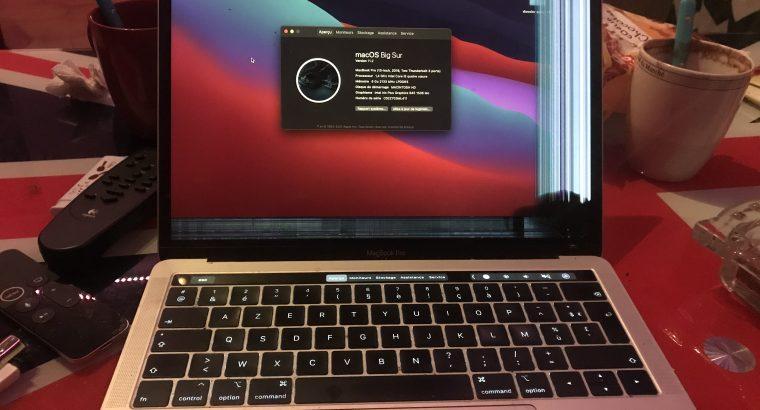 Macbook Pro 13″ Retina 128GO 2019 écran cassé