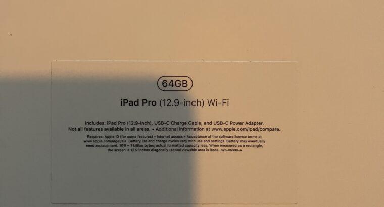 iPad Pro 12,9 2018 64GO