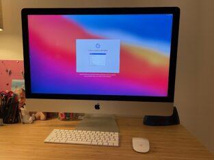 iMac 27 5K 4 cœurs 3,5 ghz 8go RAM, 1To