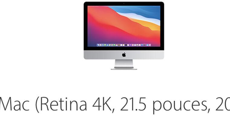 iMac 21,5 rétina 4k (neuf acheté Aout 2020)