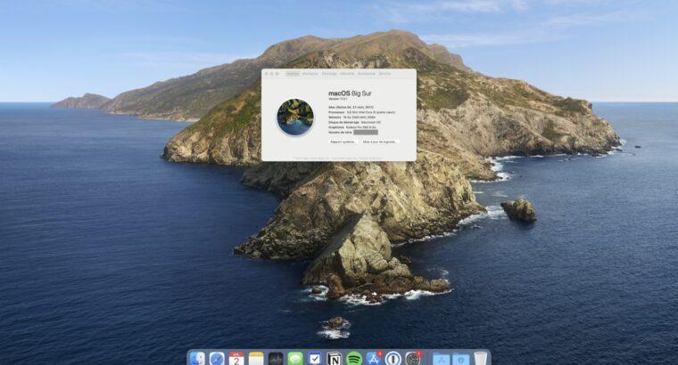 iMac 2017 27″ Retina 5K i5, 3.8 GHz, 512 Go SSD