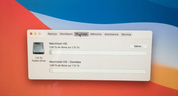 iMac 27″ Retina 5K – i7 4Ghz – FD 1To – RAM 24Go